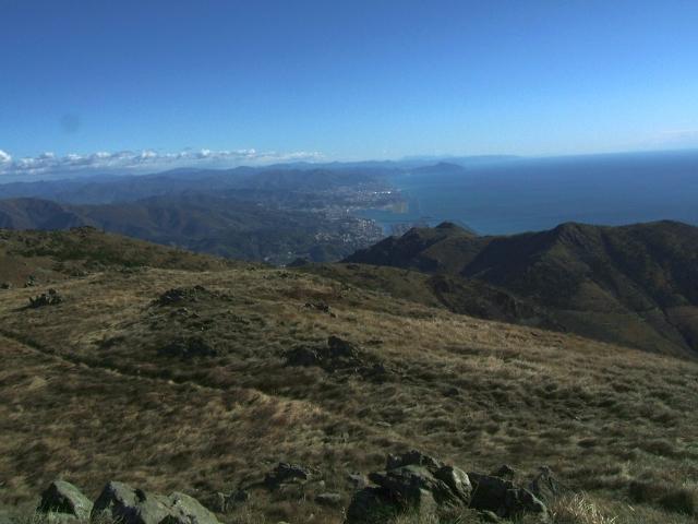 Dalla cima verso Genova