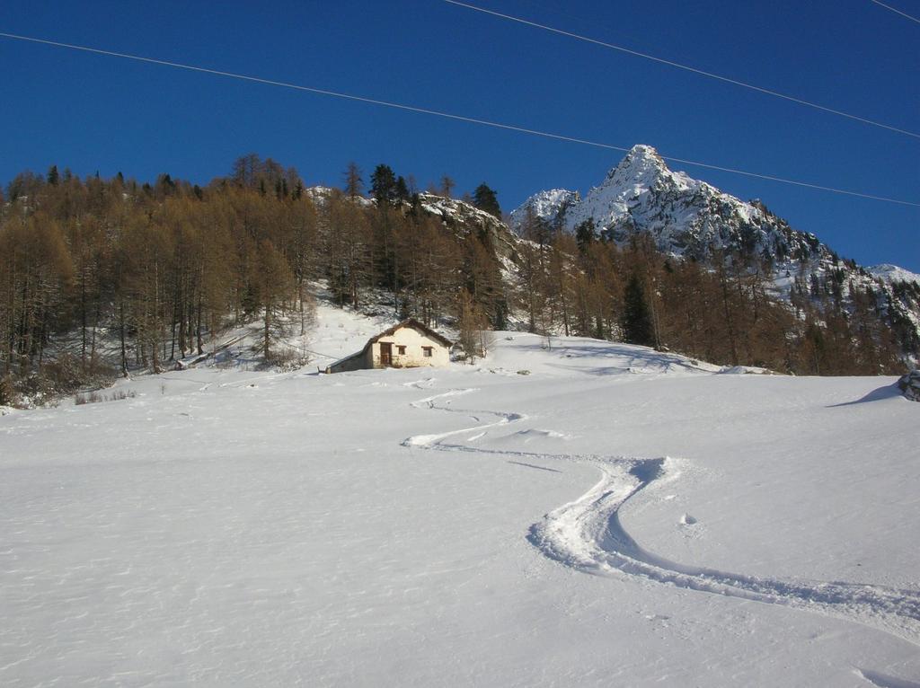 Ultime curve sotto la più inferiore delle grange dell' Alpe Hoberg (1887m).