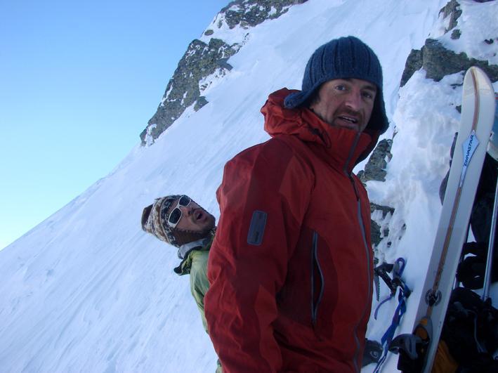 Alf e Davide si mettono gli sci