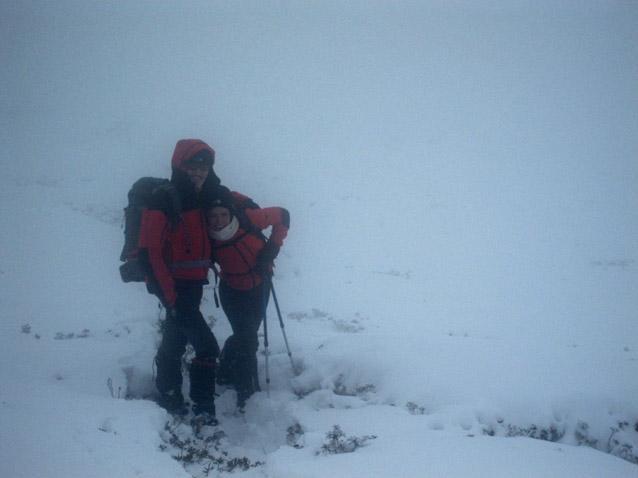 Eugenio ed Irina nei pressi della vetta invisibile