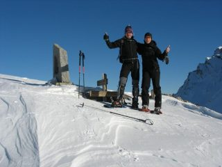 Sergio e Enrico al Passo della Mulattiera