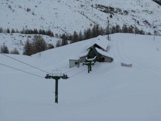 La partenza dello skilift