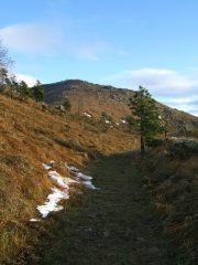 La cima dal sentiero verso il Passo Gavetta