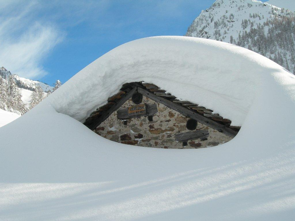 sommersa dalla neve