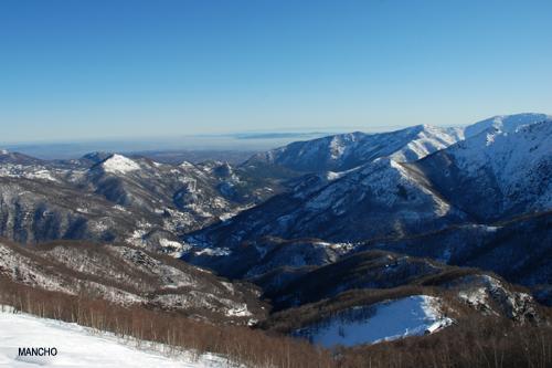 Panorama dall'alpe Belvedere