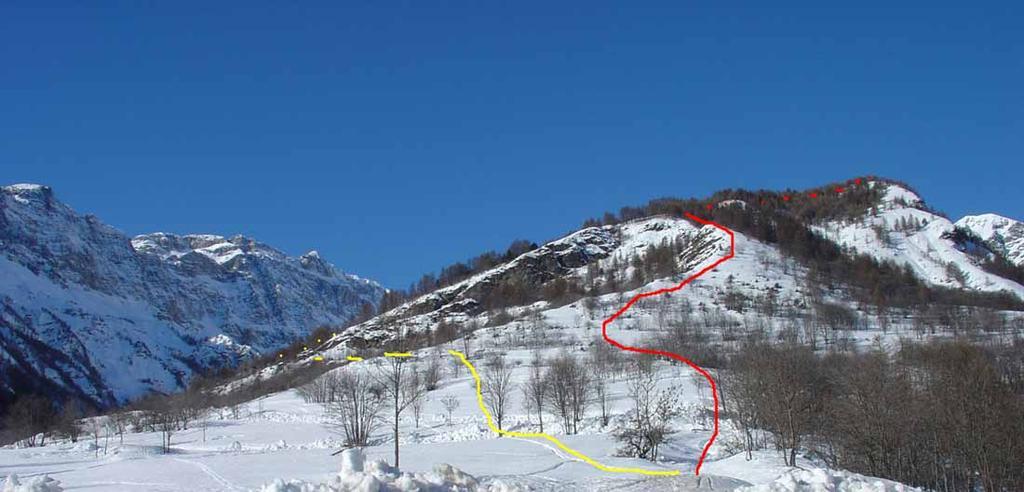Rho (Granges la) quota 2029 a N/NE da Bardonecchia, dorsale sud-est 2008-12-21