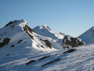La cresta verso la cima Bracca e la cima Biolley