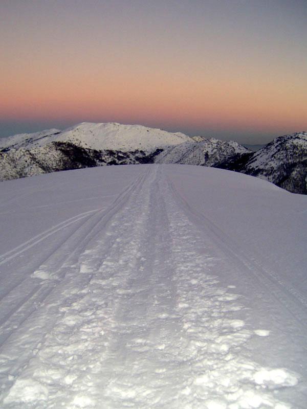 Il Monte Colambano scendendo