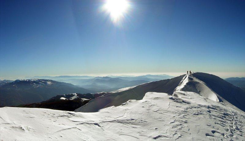 Panorama sulla cresta sommitale