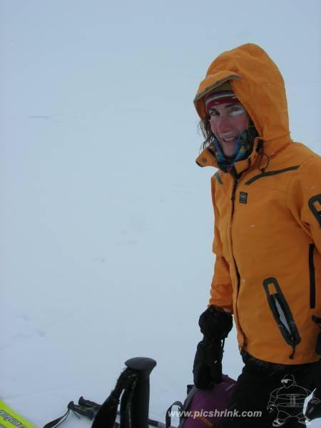 in cima nevica di brutto