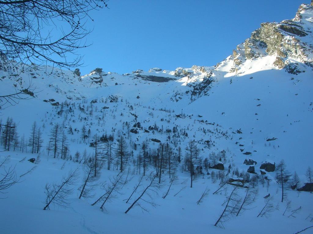 Il Mont Ruvi dall' alto vallone di Molinaz.