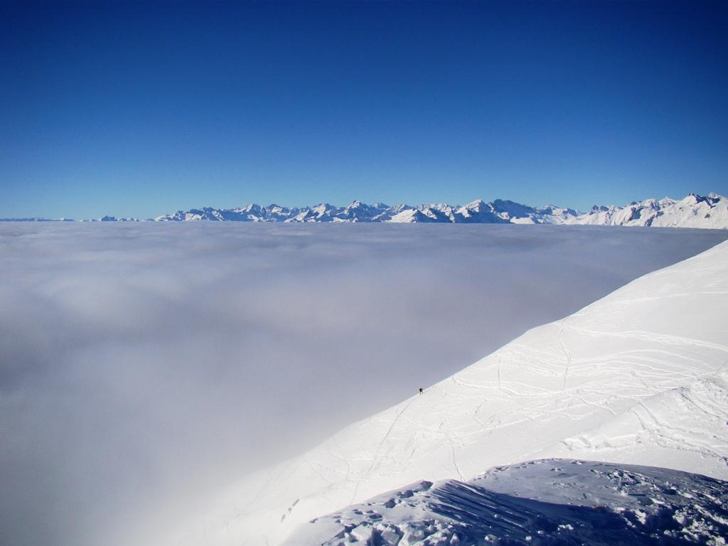 Nubi in basso....