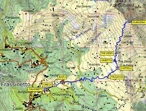 Cartina tracciato