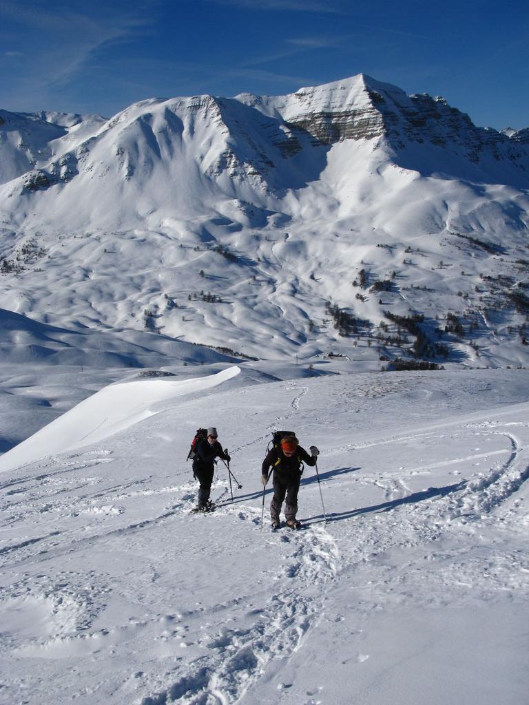 Paneyron (Tète de) dal Col de Vars 2009-01-04