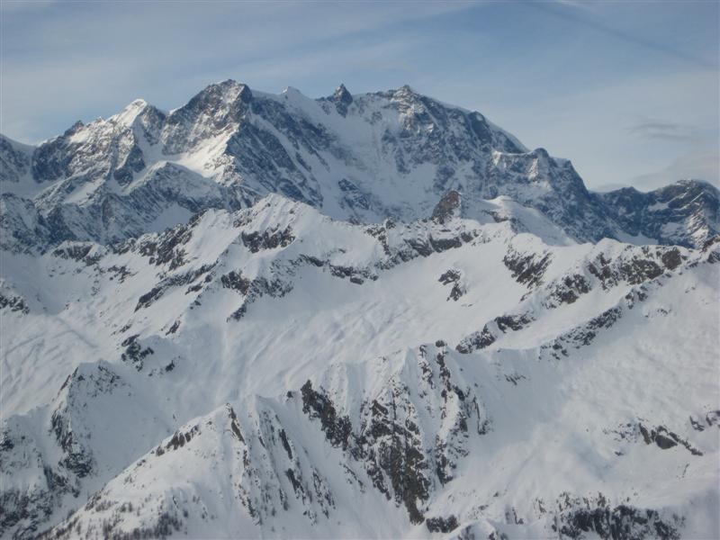 Il Monte Rosa dalla cima
