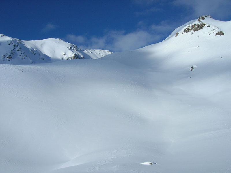 I pendii appena dietro l'alpeggio