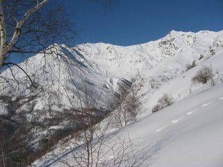Salendo, panorama sulle Punte Quinzeina e Verzel