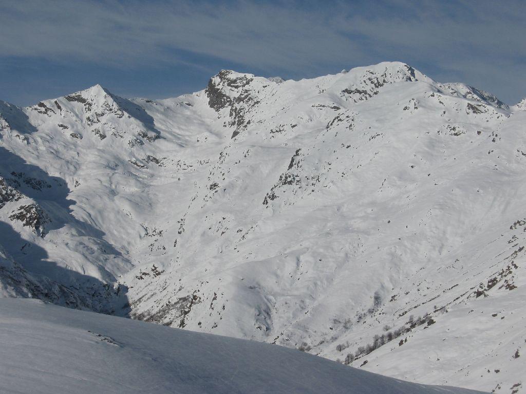 Panorama su, Cima di Pal, Punta Bordevolo e Cima Lasrubbia