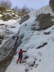 Michele sulla parte bassa della cascata