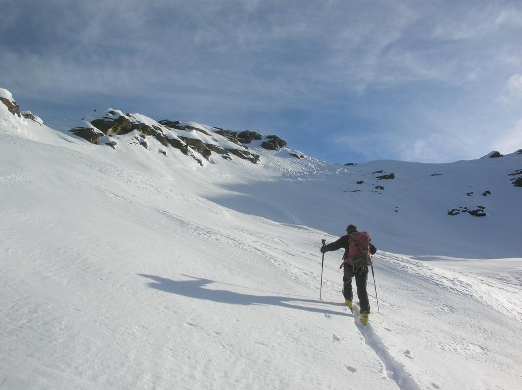 Ultimi pendii sottostanti la vetta del Mont Ruvi.