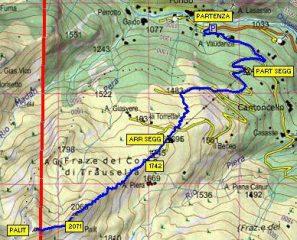 Mappa percorso