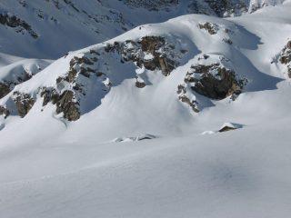 Le baite del Serrù quasi sepolte dalla neve