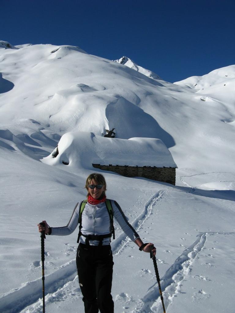...il magnifico vallone con l'Alpe Lion...