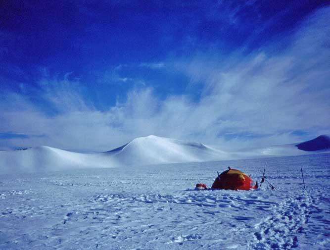 campo sull'air Force Glacier