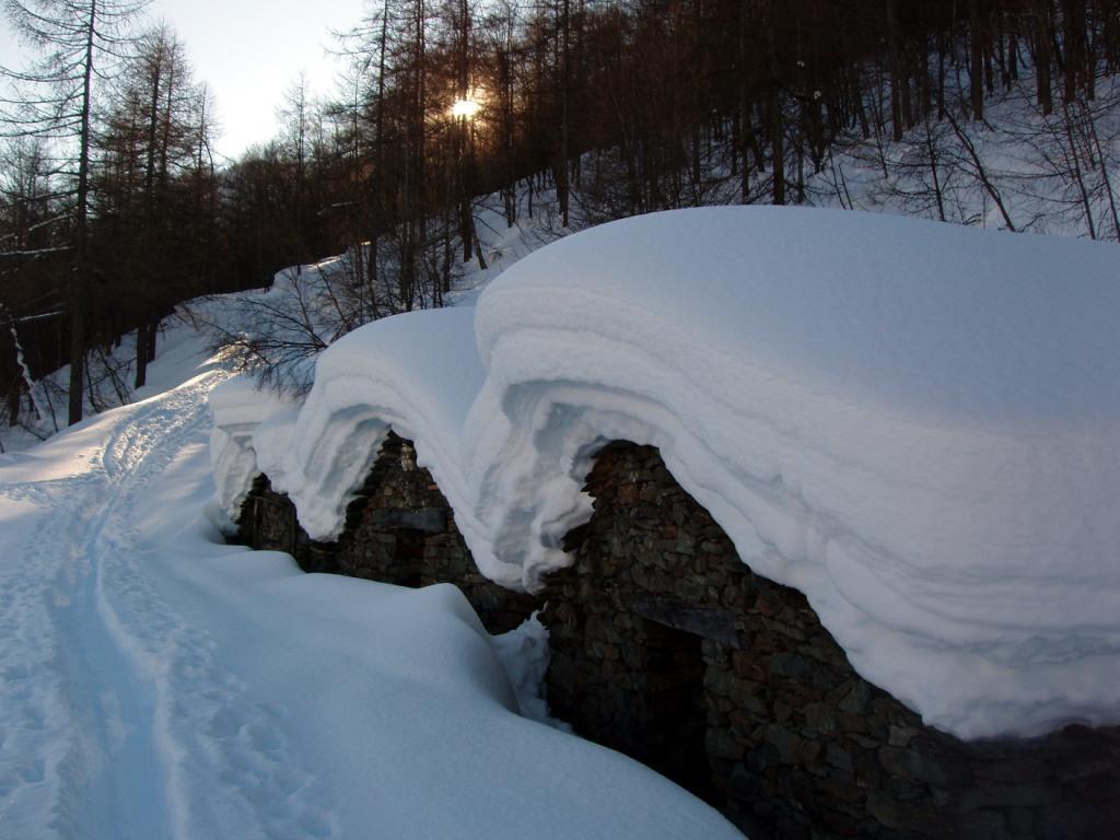 La neve all'Alpe Cuccetta
