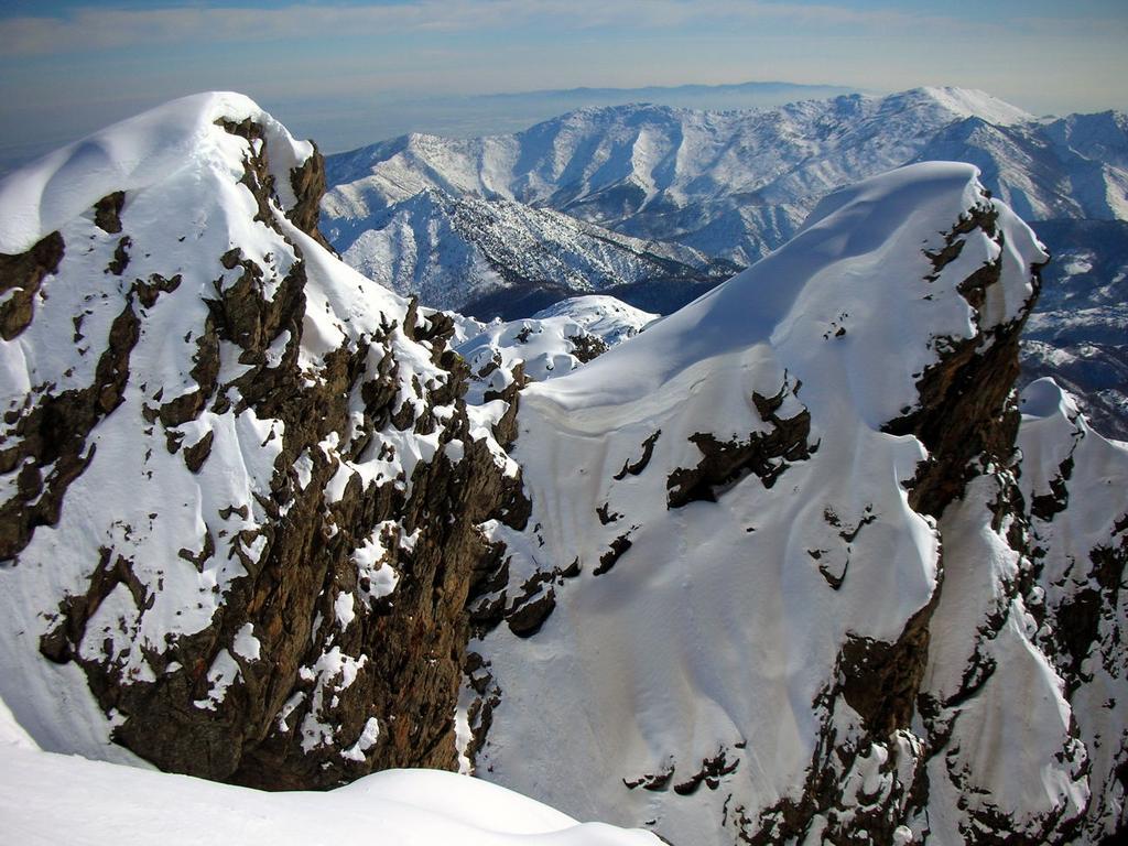 Ambiente patagonico. Sullo sfondo Roc Neir e Colombano