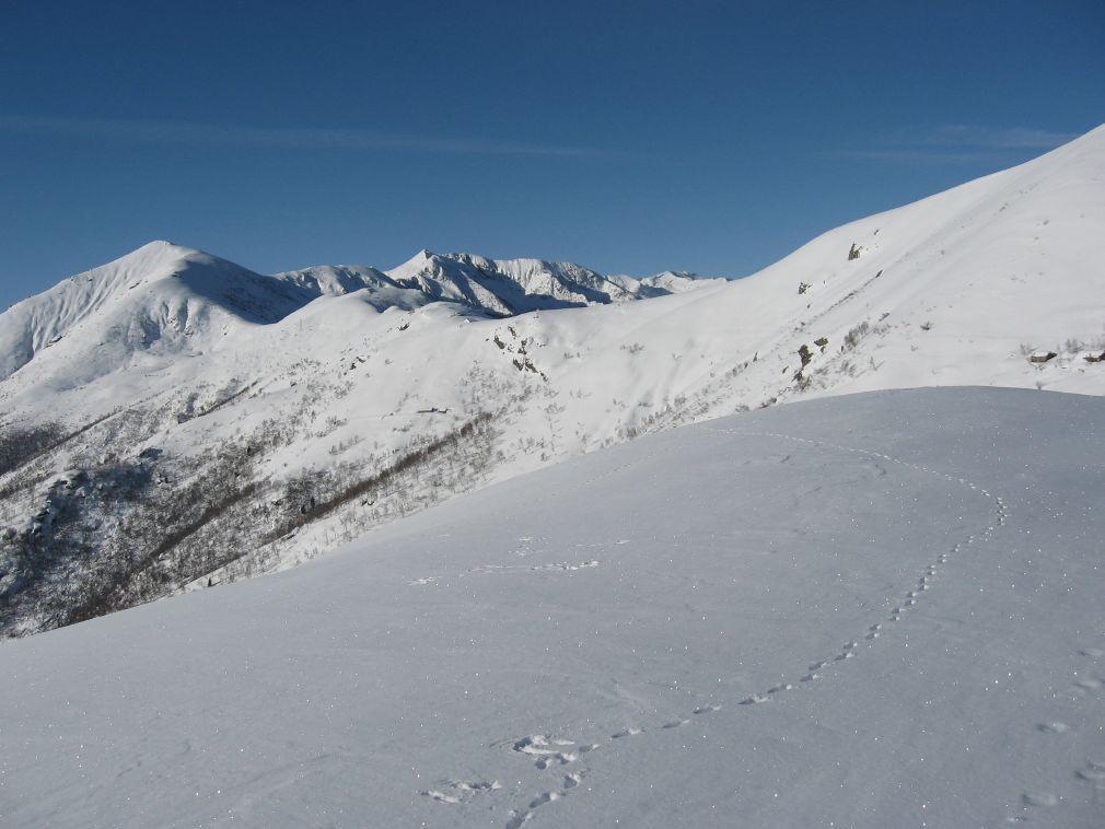 Dalla dorsale, vista sul Monte Soglio