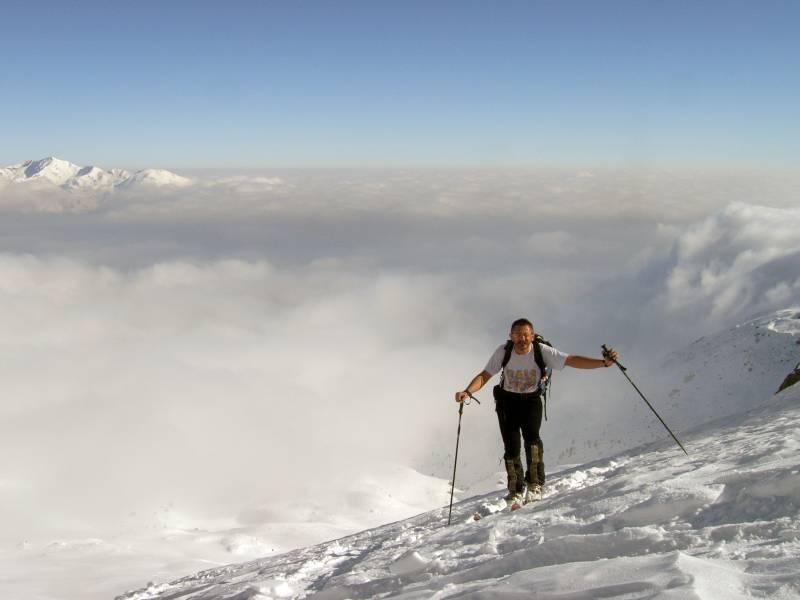 usciti dalle nebbie, nell'alto vallone di Renanchio