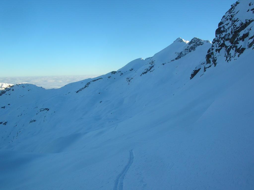 La Cima Bonze e l' alto Vallone del Rio Fer di Bonze dalla Bassa di Bonze.