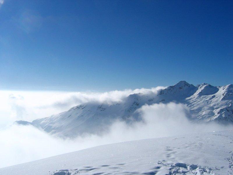 Nuvole verso la cima Verzel....