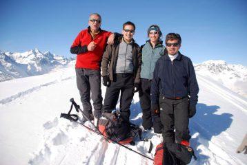 sul Grifone con Franco, Carloalberto, Mara, Marco