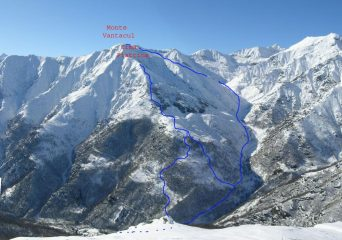 Itinerario Cima Piattina e Vantacul, visti dal Monte Sevin