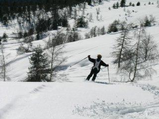 discesa da sciatrice