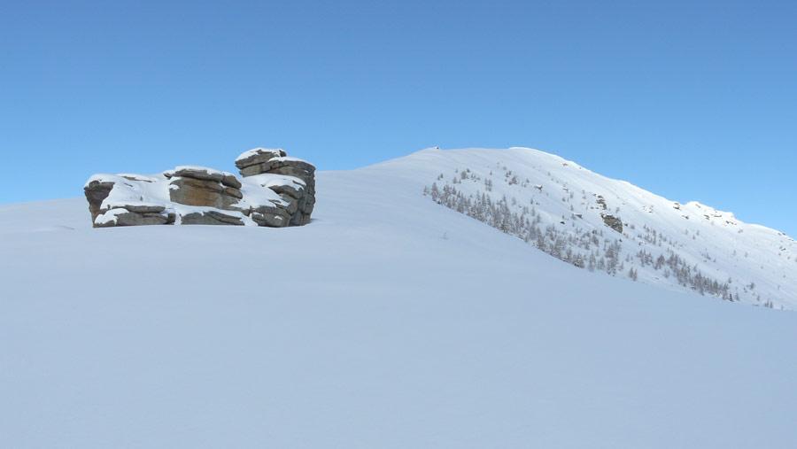la parte alta e la rocca Valvetta