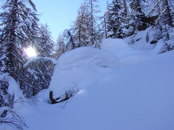 Vari strati di neve
