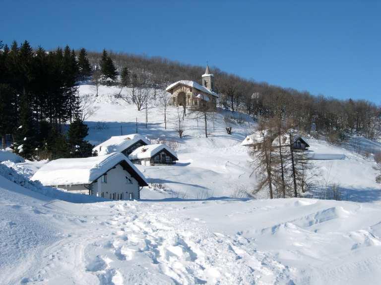 Mottarone da Gignese per Madonna della Neve 2009-02-15