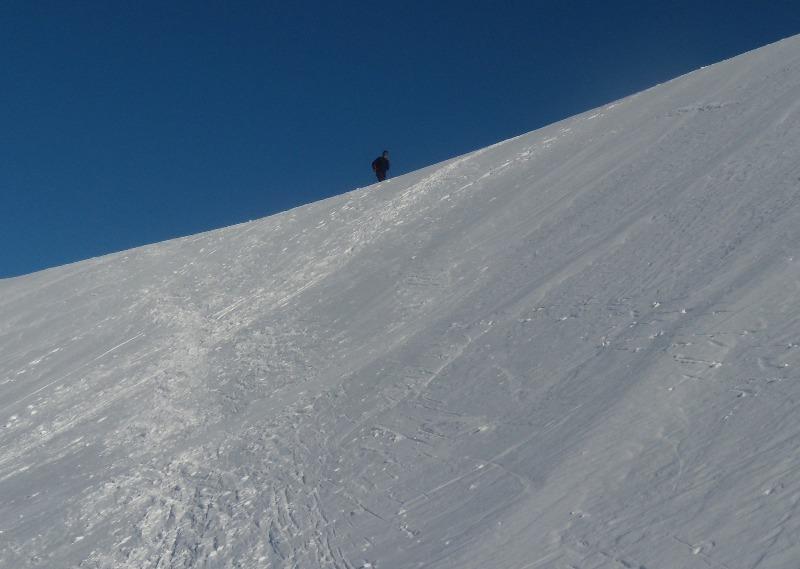 Maurizio in Salita sopra l'ultima cresta