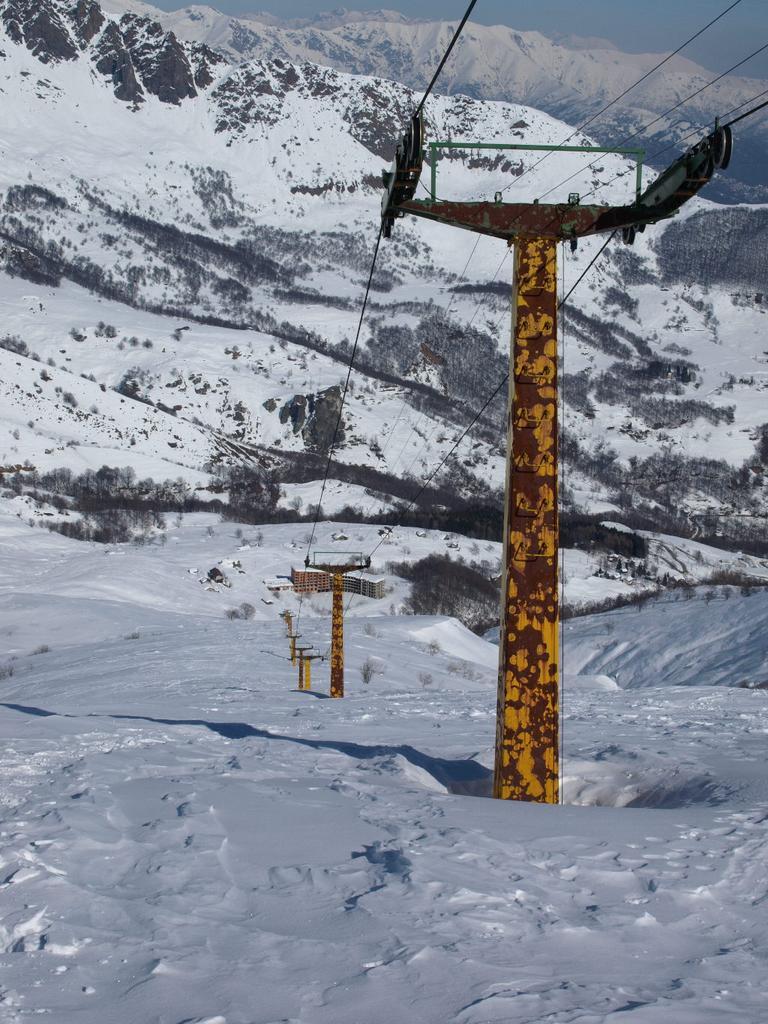 Discesa lungo lo ski-lift