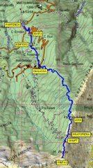 Cartina del percorso