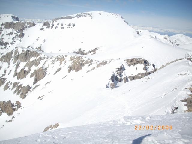 la paretina est del Mongioie