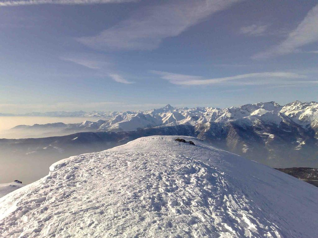 Panorama sulViso e sulla pianura piemontese