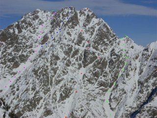 Il Cougn (puntini verdi), foto M.Monaco