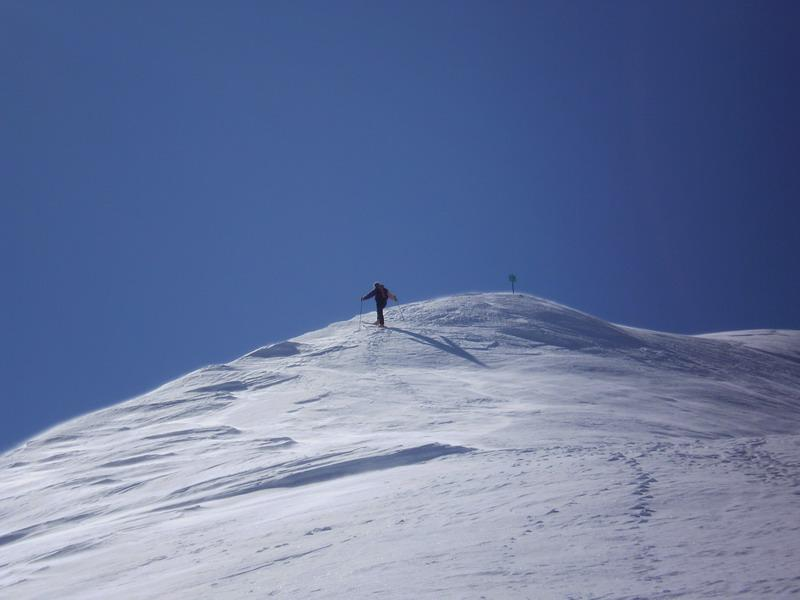 In salita verso la cima