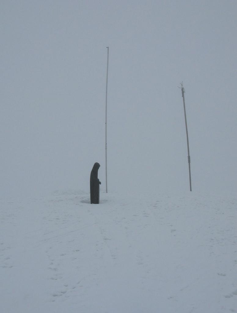 La vetta in una giornata di neve