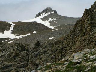 il Mont Pelat osservato da quota 2550 m. del Vallon du Pelat (1-6-2008)