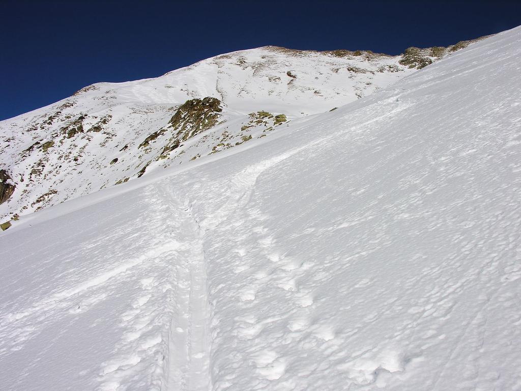 il vallone che sale verso il Monte Le Steliere (28-1-2007)